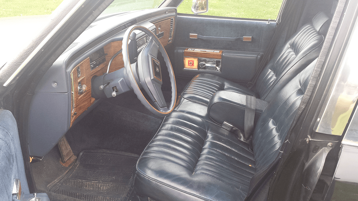 84 Superior Hearse Interior